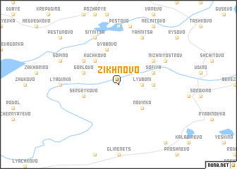 map of Zikhnovo