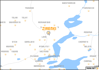 map of Zimenki