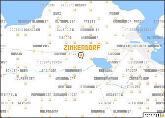 map of Zimkendorf