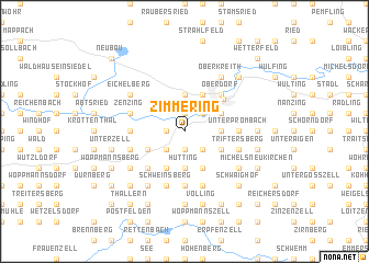 map of Zimmering