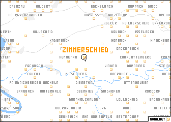 map of Zimmerschied