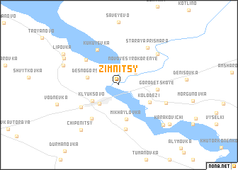 map of Zimnitsy