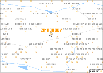 map of Zimnowody