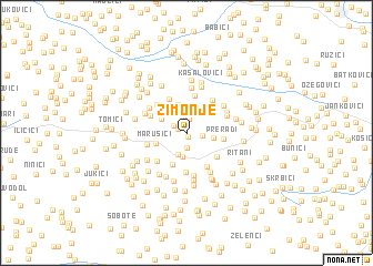 map of Zimonje
