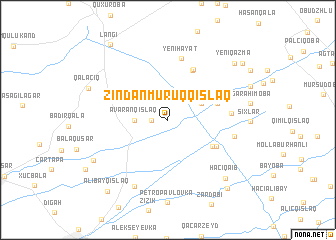 map of Zindanmuruqqışlaq