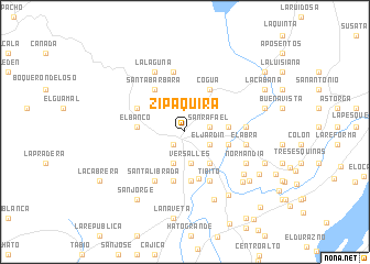 map of Zipaquirá