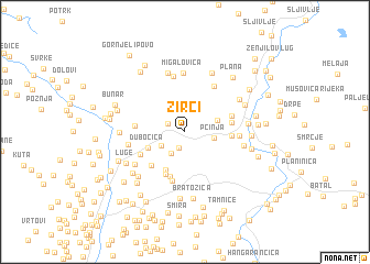 map of Žirci