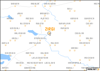 map of Zirgi