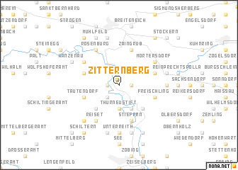 map of Zitternberg