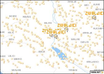 map of Živaljići