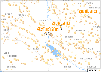map of Živaljići