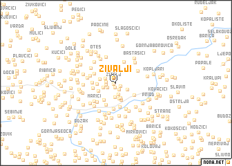 map of Živalji