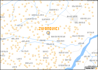 map of Živanovići