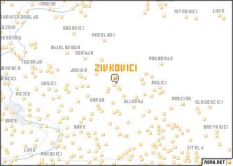 map of Živkovići