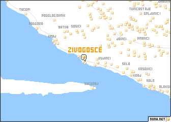 map of Živogošće