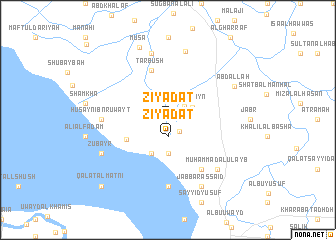 map of Ziyādāt