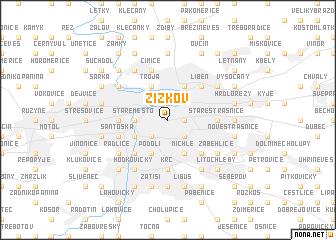 map of Žižkov