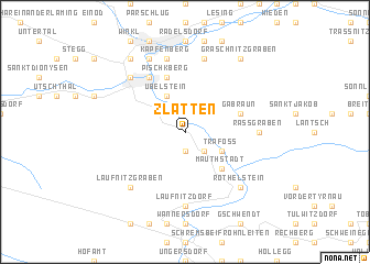 map of Zlatten