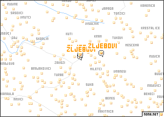 map of Žljebovi