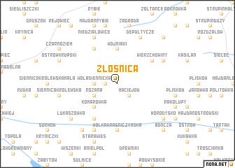 map of Złośnica