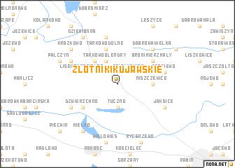 map of Złotniki Kujawskie
