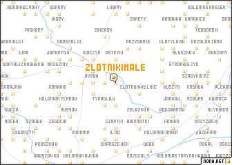 map of Złotniki Małe