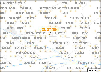 map of Złotniki