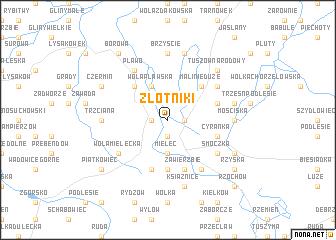 map of Złotniki