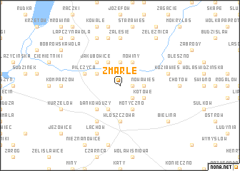 map of Zmarłe
