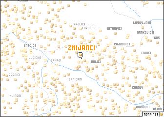 map of Zmijanci