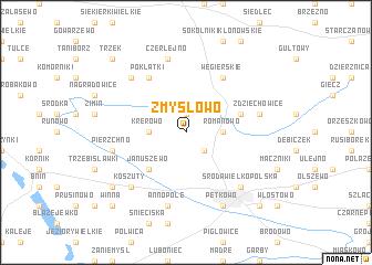 map of Zmysłowo