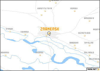 map of Znamensk