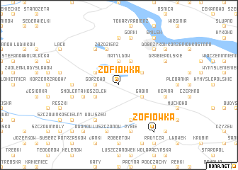 map of Zofiówka