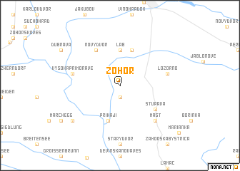 map of Zohor