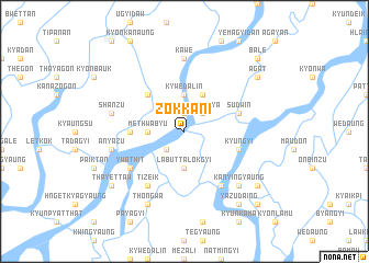 map of Zokkani