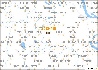 map of Zokkani
