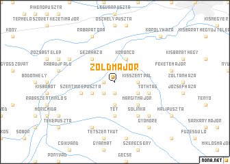 map of Zöldmajor