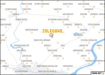 map of Żołędowo