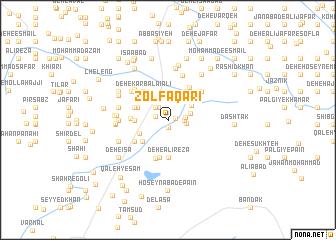 map of Z̄olfaqārī
