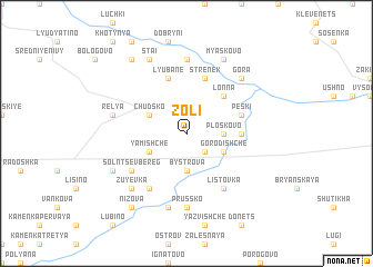 map of Zoli
