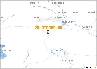 map of Zolotonoshka