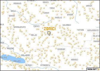 map of Zonići