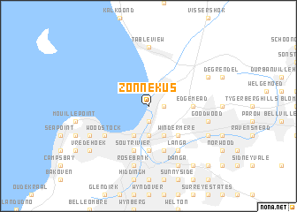 map of Zonnekus