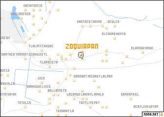 map of Zoquiapan