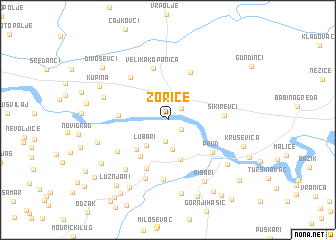 map of Zorice
