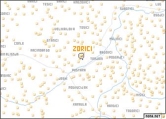 map of Zorići