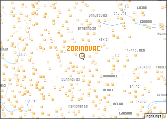 map of Zorinovac