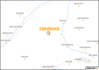 map of Zorinovka