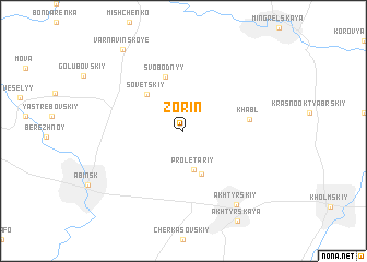 map of Zorin