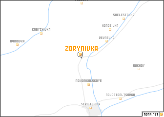 map of Zorynivka